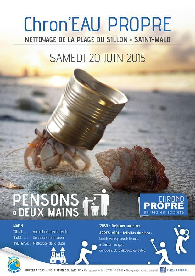 nettoyage de la plage de Saint-Malo - 2015
