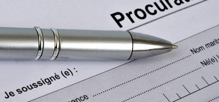 Comment faire une procuration pour une vente immobilière ?